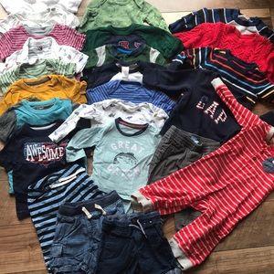24 PIECE BUNDLE BOYS CLOTHES 12-18 MONTHS